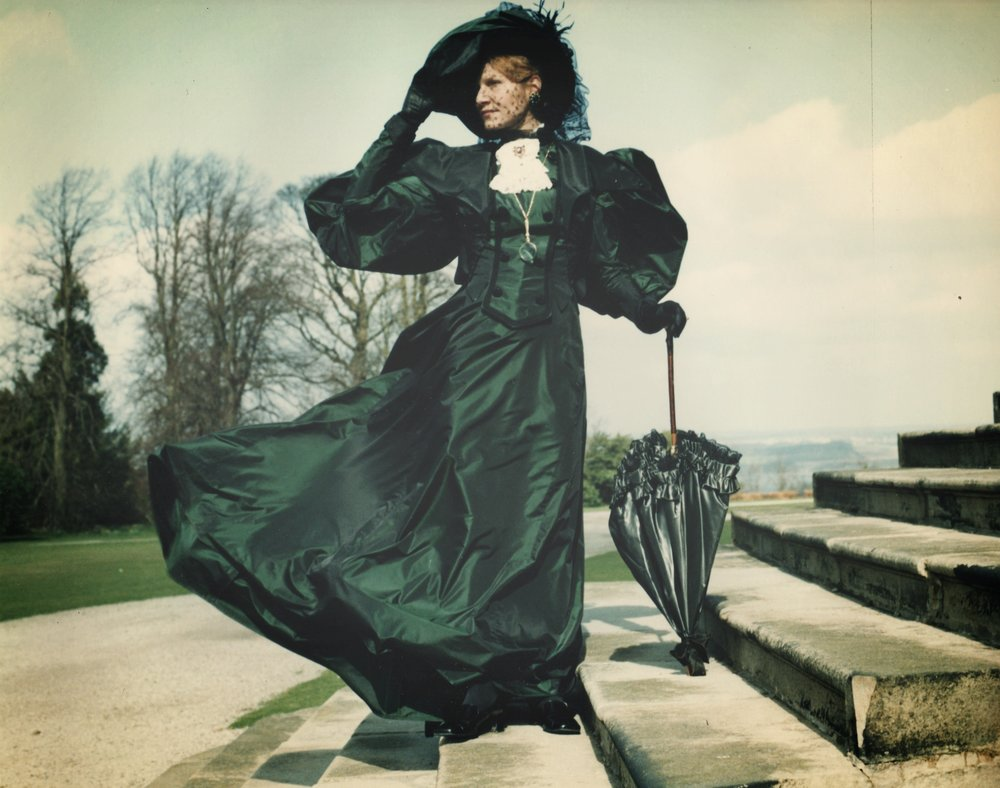 Lady Bracknell - Colour Photo on steps.jpg