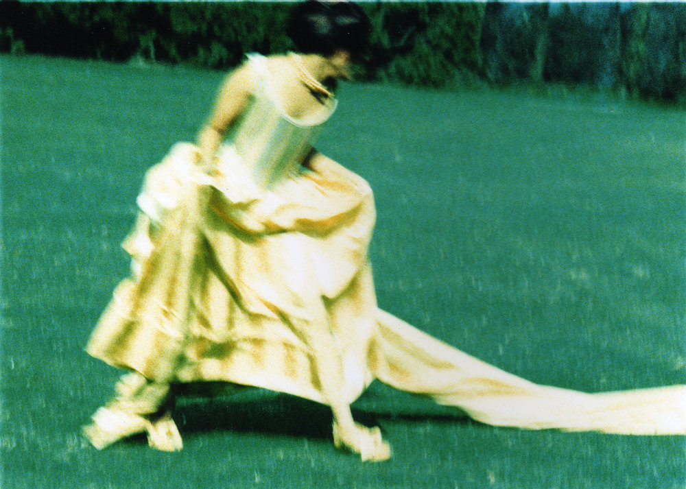 Canary Corseted mock 18th century ball gown - movement image no 1- photo.jpg