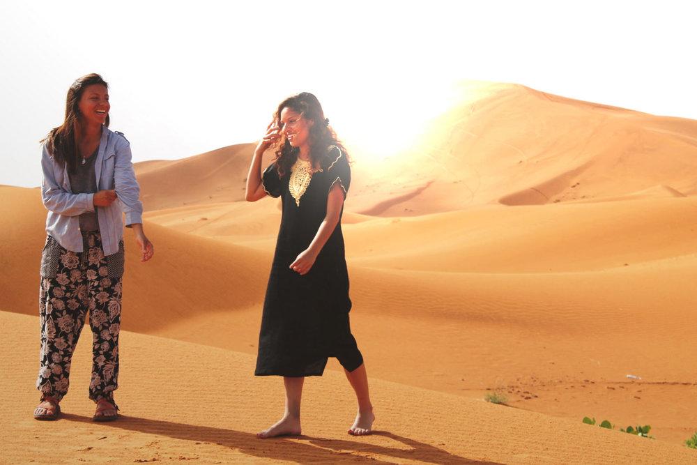 self portrait in the sahara desert