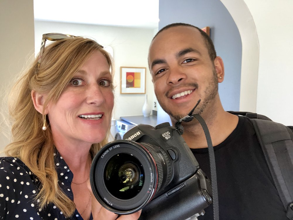 Cordula with professional photographer, Elon Walton