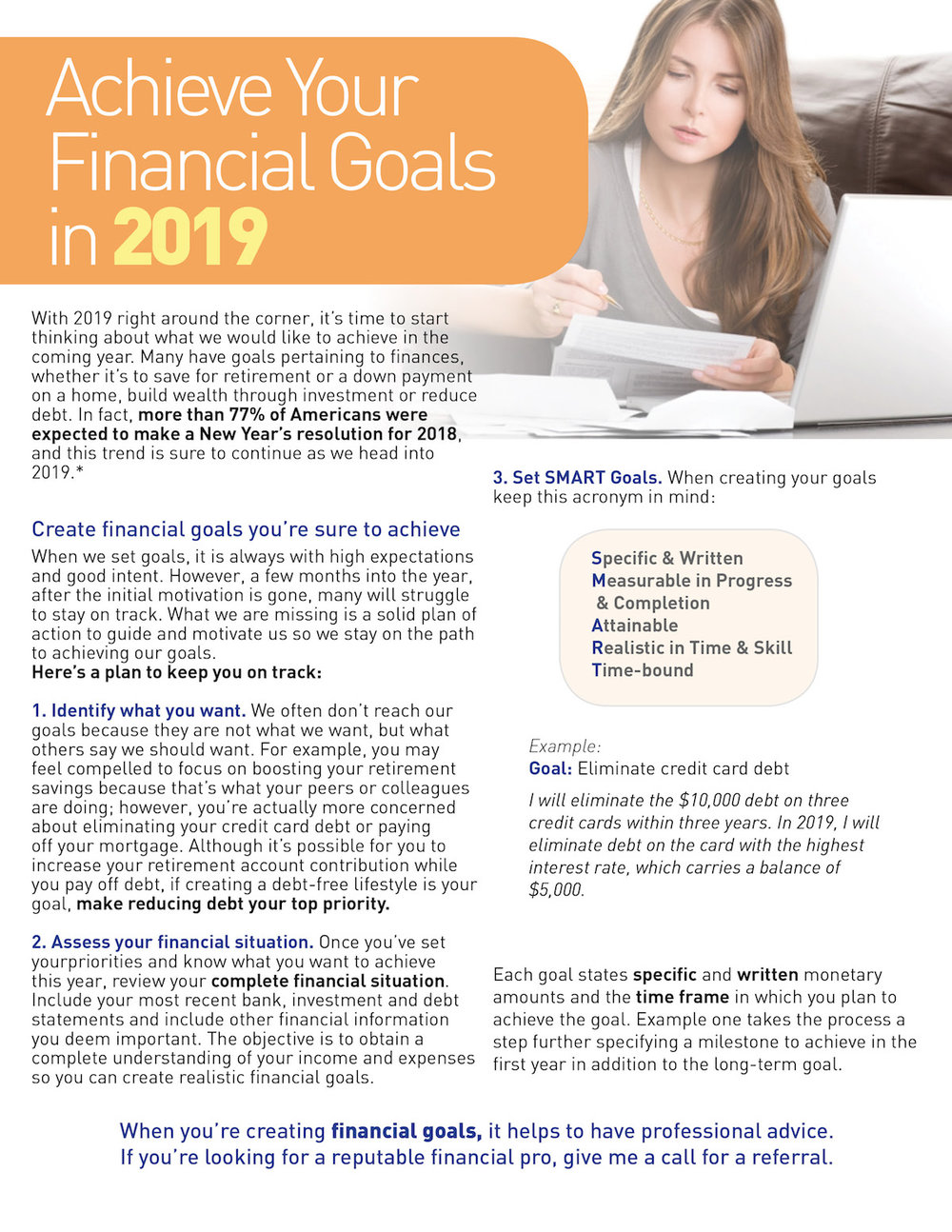 How to Achieve Your Financial Goals in 2019 - Pier to Pier Brokers