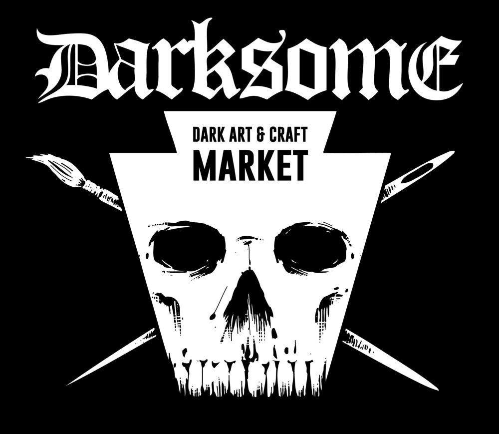 Darksome in white
