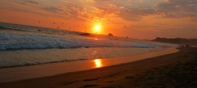 zipolite sunset