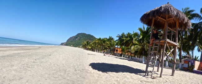 palapa on beach