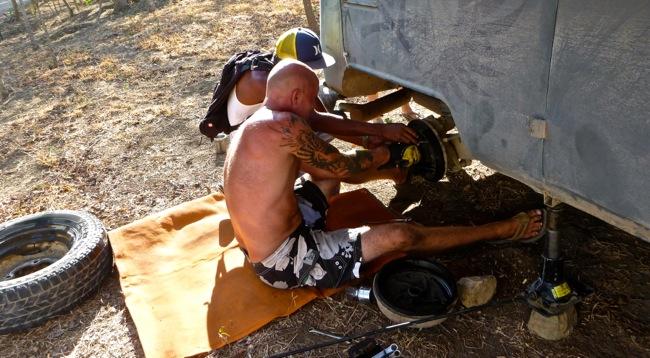 pulling brake drum