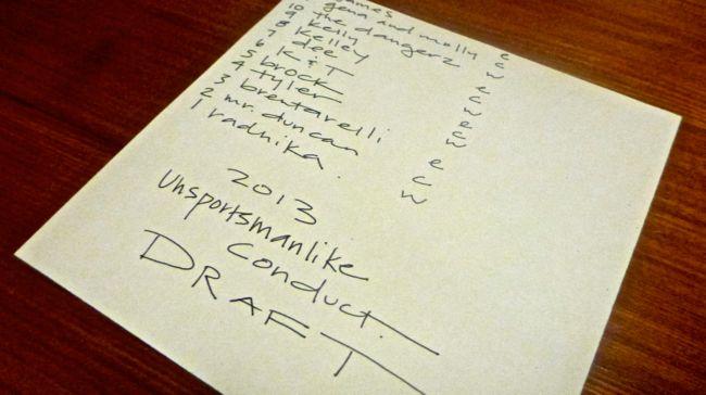 draft order