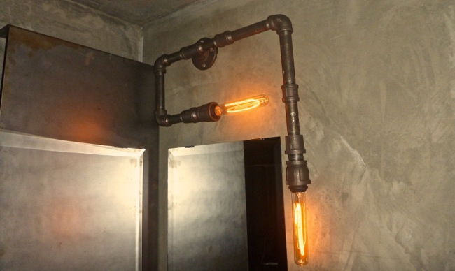 black steel lamp