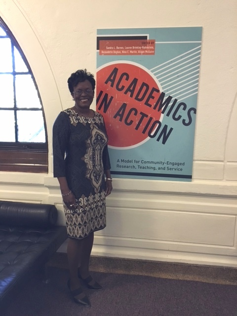 Sandra at Academics in Action! launch