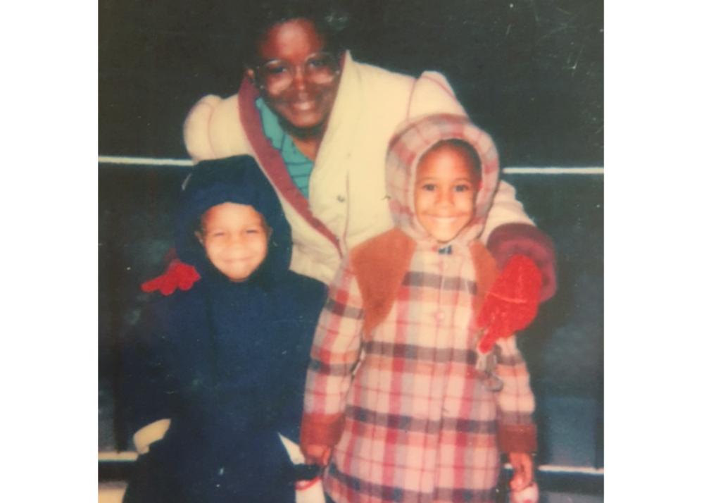 Sandra, nephew, and sister (1982)
