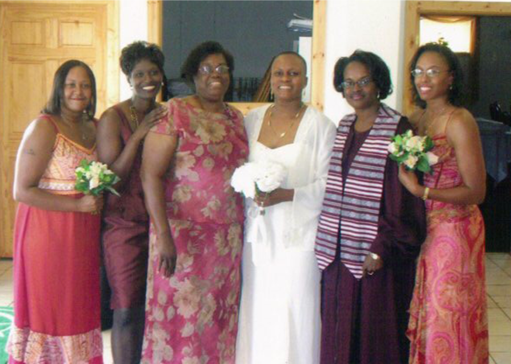 Sandra and her remaining immediate family (2006)