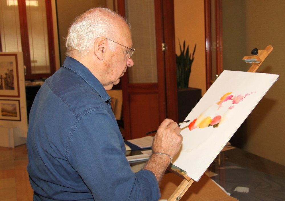 Corso di Pittura acquerello con il  Maestro Luigi Zucchero