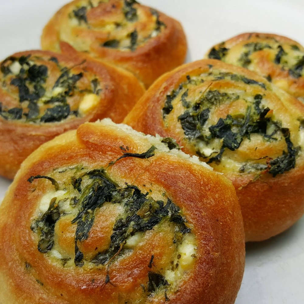 - spinach feta pinwheels