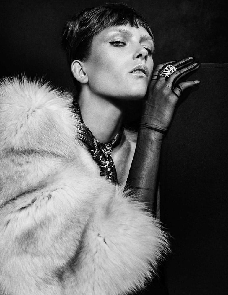 """My fur lady"" for Harper's Bazaar"