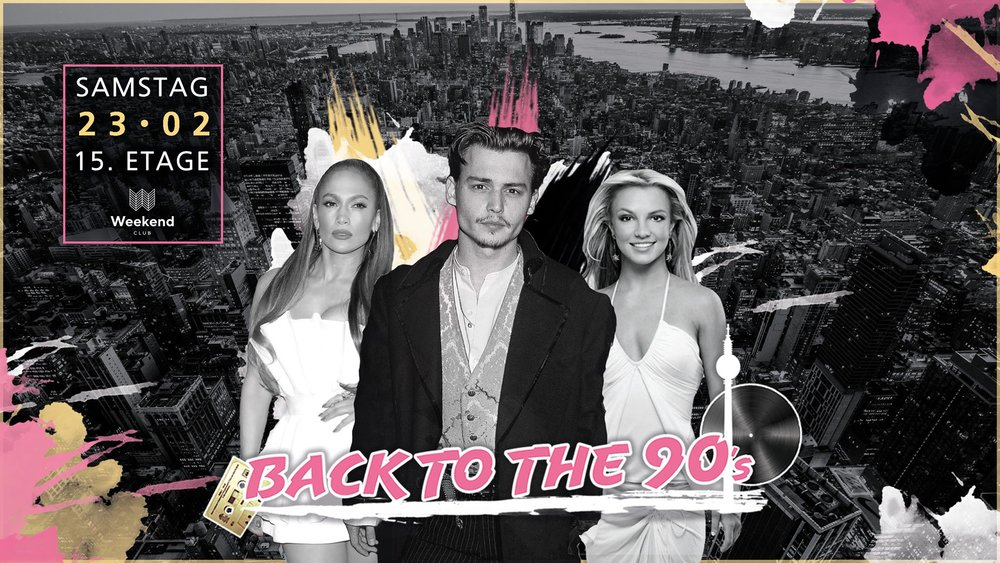 Back to the 90s  The best music decade is in the center! Always with an exceptional, international line up a unique atmosphere is guaranteed.  Let us take you on the journey through time and look forward to the best sounds and a unique view over the city