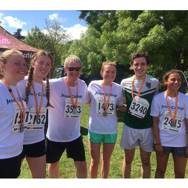 Part of the Jesus team after the Town & Gown 10k this morning! #townandgown10k #speedyshadbolt