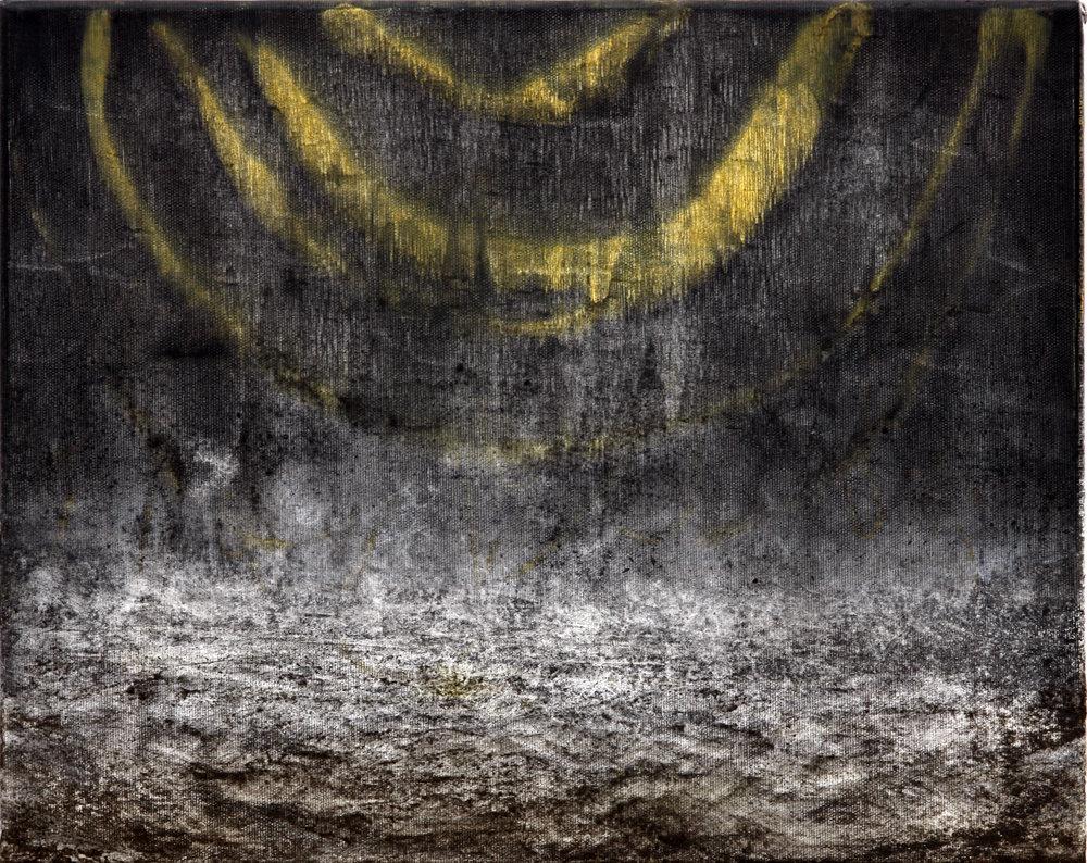 'Wine Dark Sea ll'  Mixed-media on canvas  45 x 36cm  2015