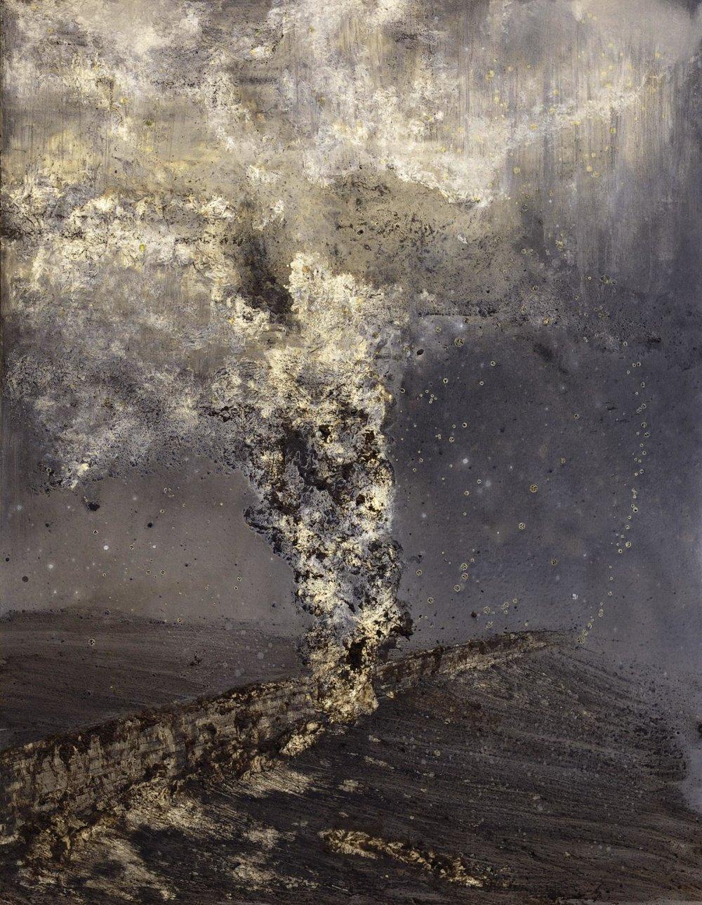 Untitled (smoke) Mixed-media on canvas  100 x 150cm 2014