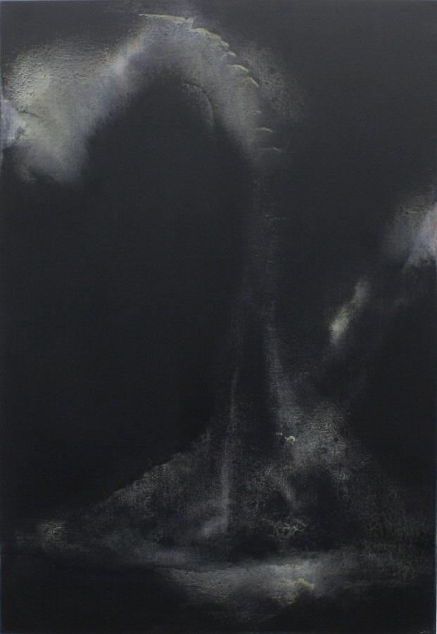 'Night Watch lll' Mixed-media on canvas  90 x 130cm 2017