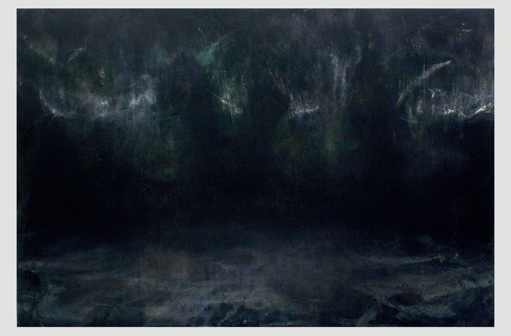 'Leviathan'  Mixed-media on canvas  300 x 200cm  2016