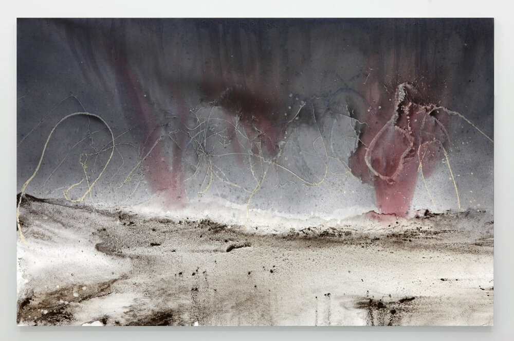 Untitled (Excursive Painting) Mixed-media on canvas  280 x 180cm 2015