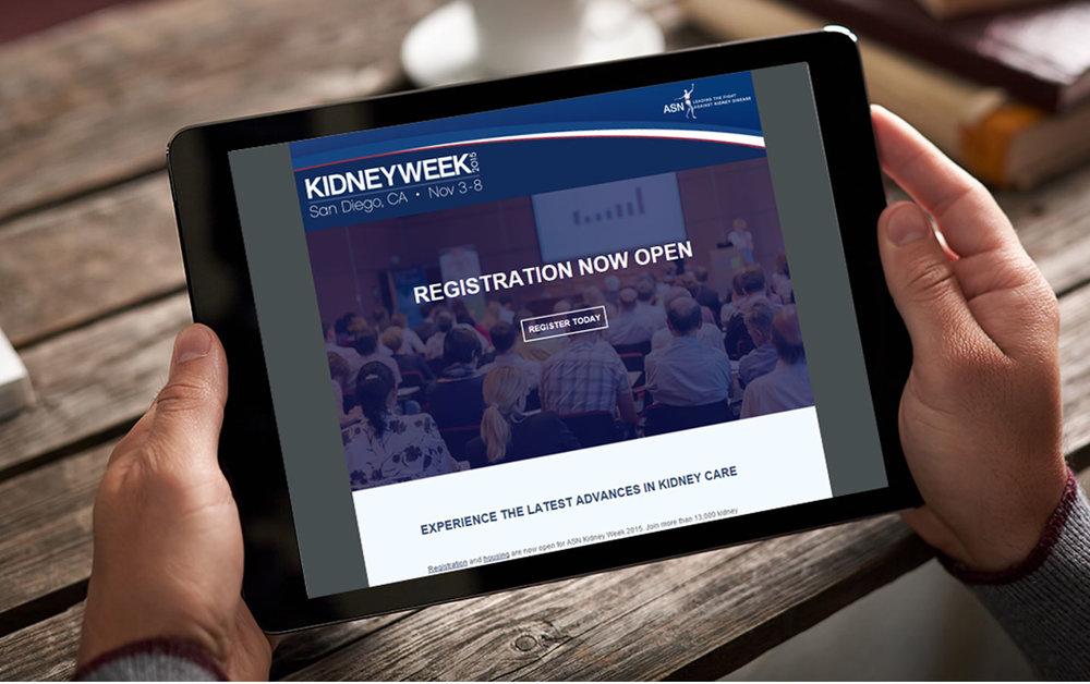 Kidney Week Email Design & Development