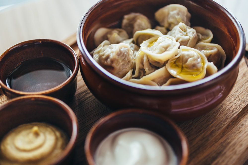Siberian Pelmeni with 4 types of meat in SibirSibir (Moscow)