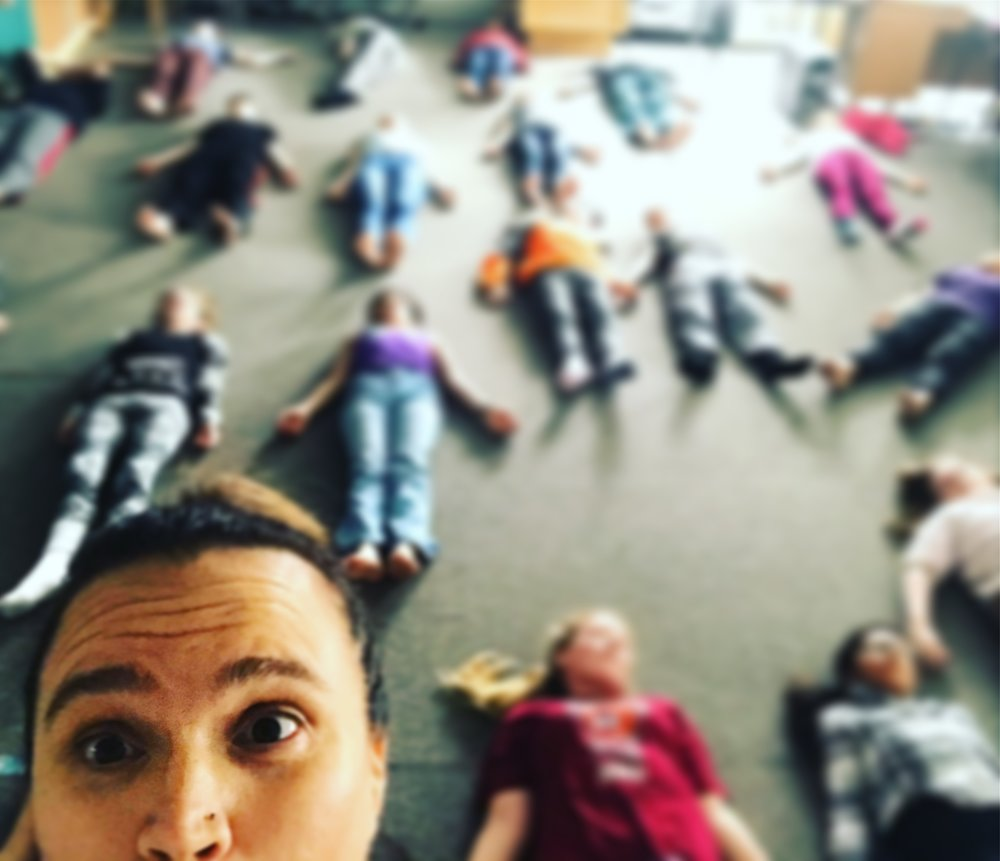 Kids yoga at Virginia Granger elementary School