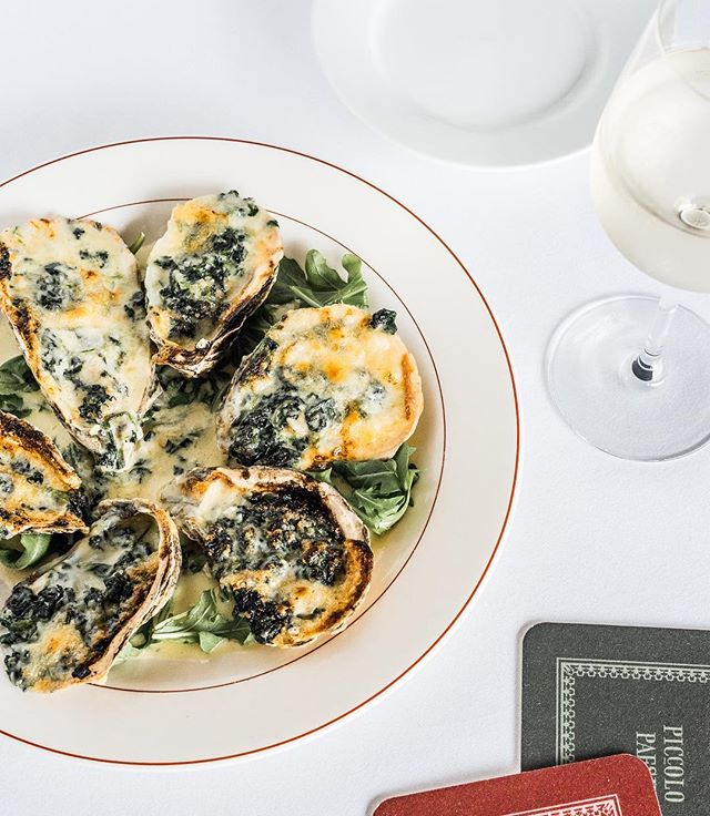 Oysters Rockefeller by Chef Baco // Photo by @lawrence_braun x @fostersupplyhospitality