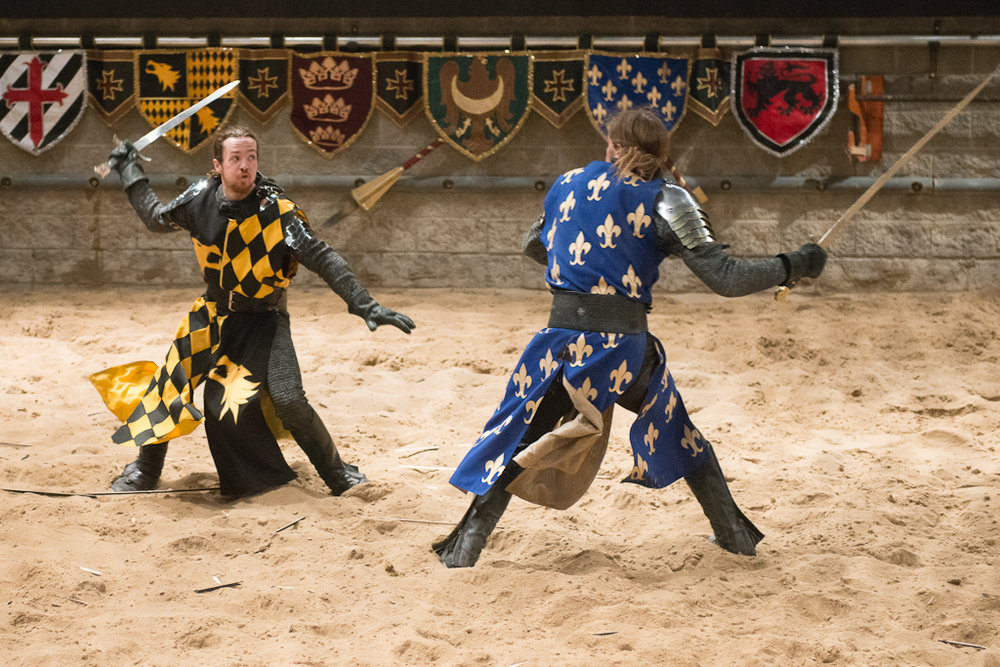 Spar with Knights from Medieval Times!