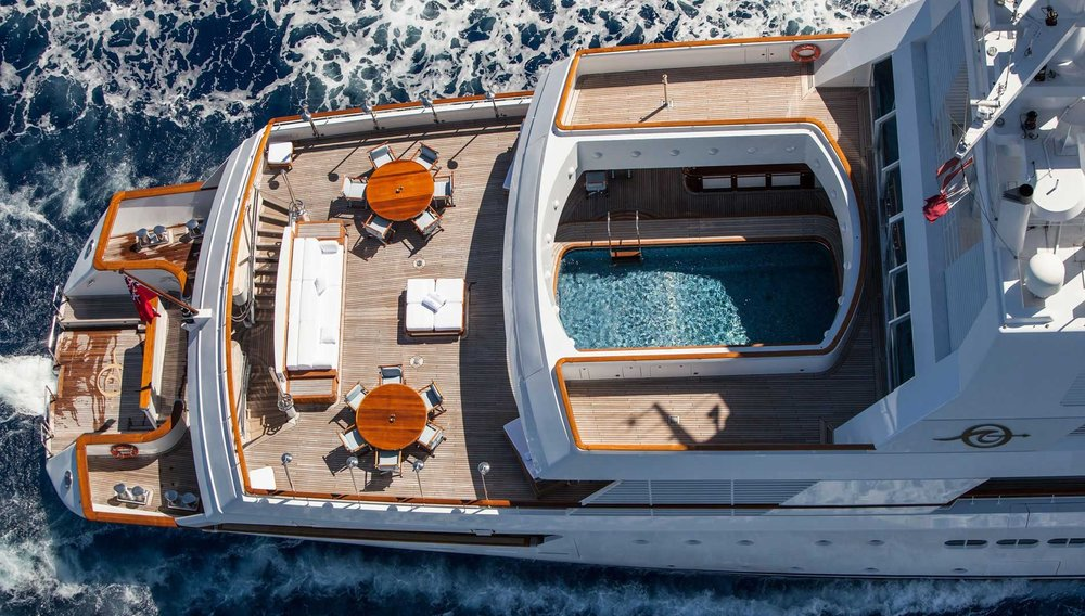 Custom designed 263-foot long super yacht