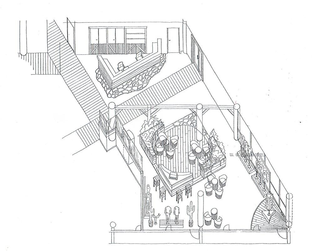 Isometric rendering of Levi's Strauss Headquarters, Aker Brygge, Oslo, Norway