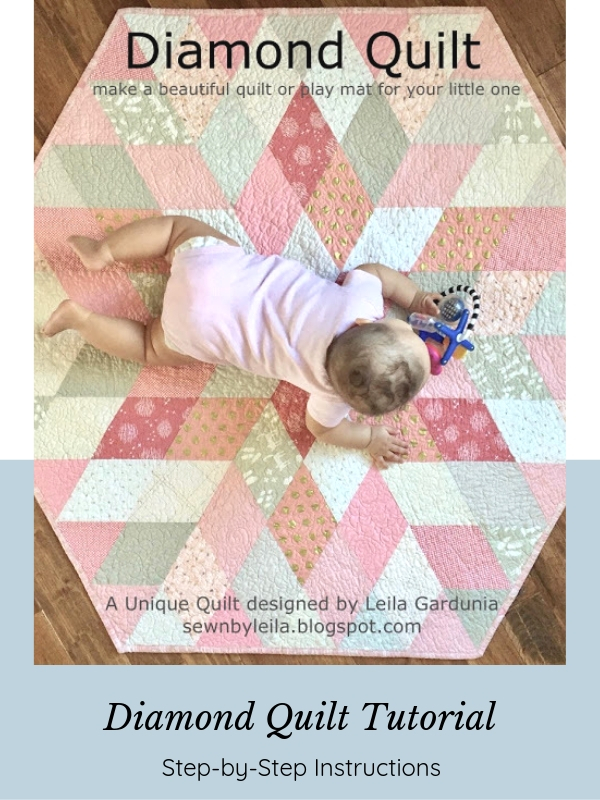 Baby on Pink Diamond Quilt - Tutorial