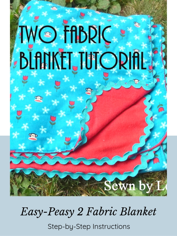 How to make a simple two fabric blanket