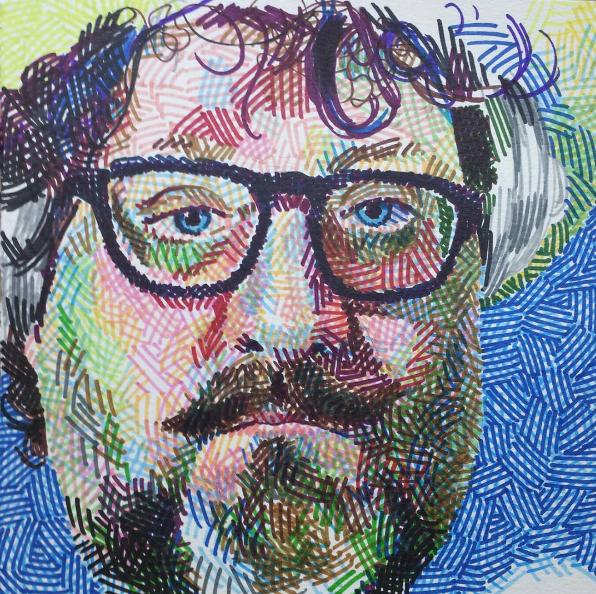 Self-portrait with broken glasses, 2014