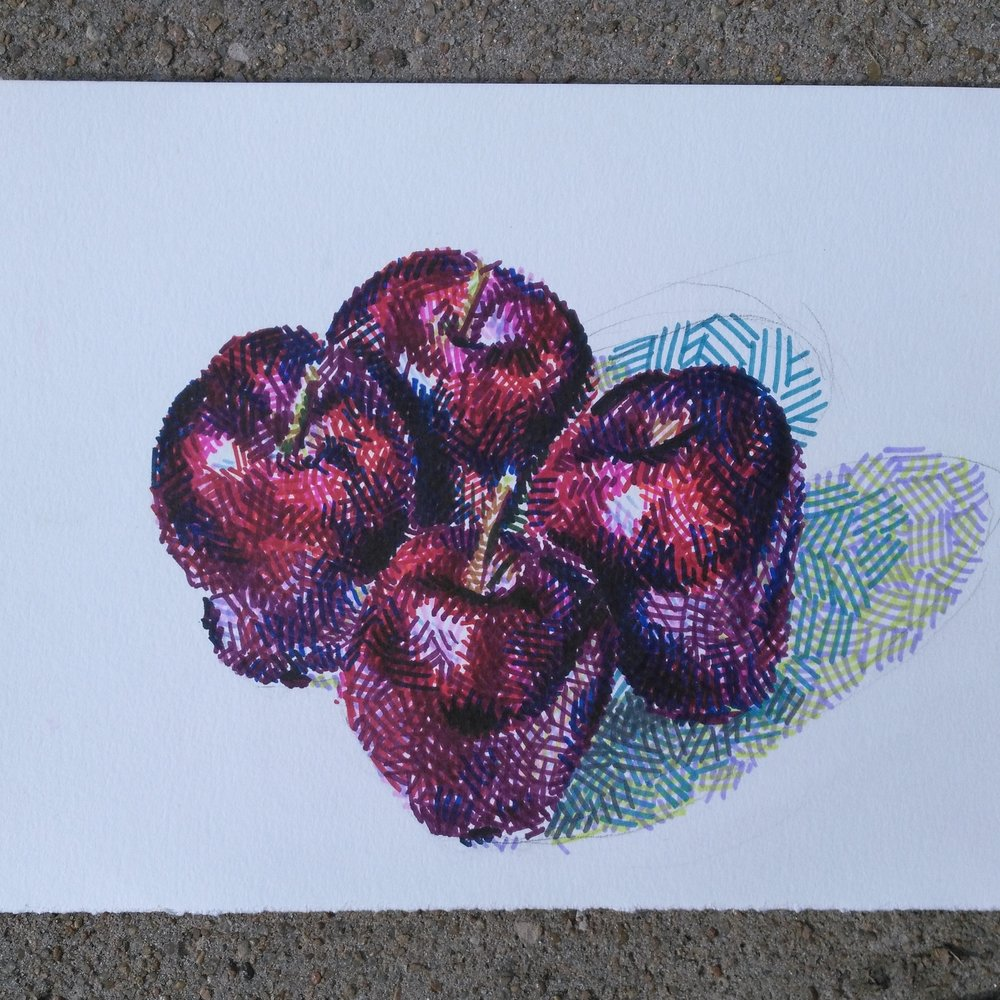 Four Red Delicious Apples, 2016