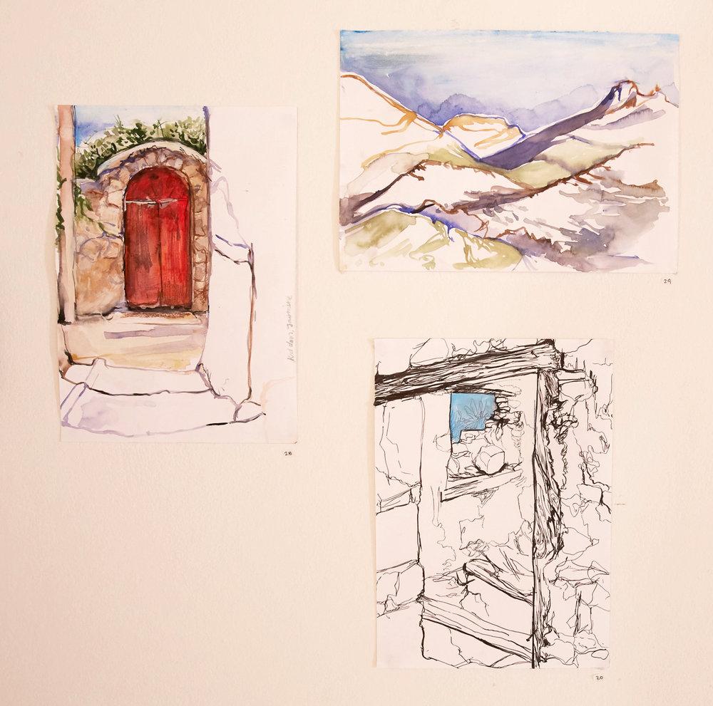 Agios Ioannis sketches, 2015