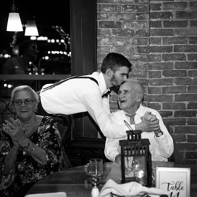 I love unexpected moments! I'm so glad I was able to get across the room in time to capture Kevin wishing his grandfather a surprise happy birthday during the reception! These types of moments just melt my heart!