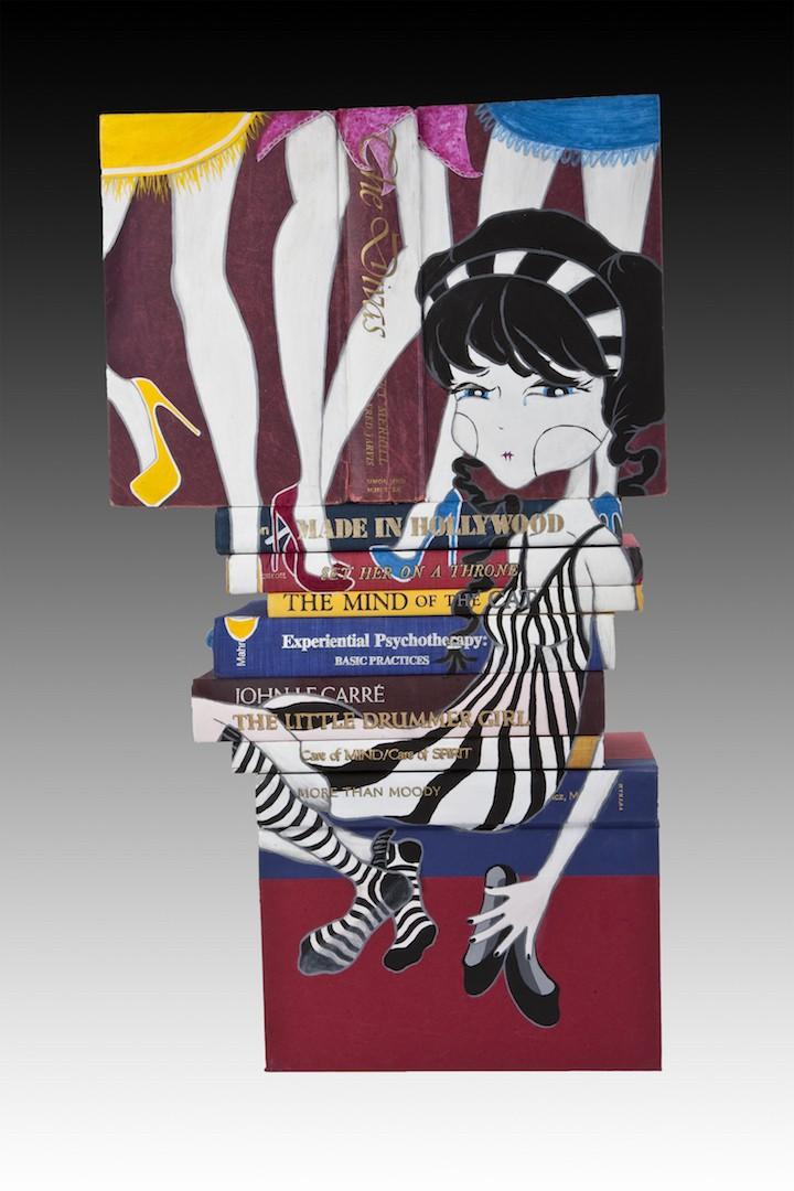 baerwald_birds_of_a_feather_acrylic_on_books