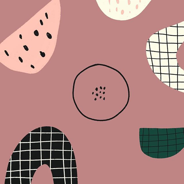 Sunday night derpy patterny shapey things. . . . #womenofillustration #patterndesign #illustration #girlboss #graphicdesigner