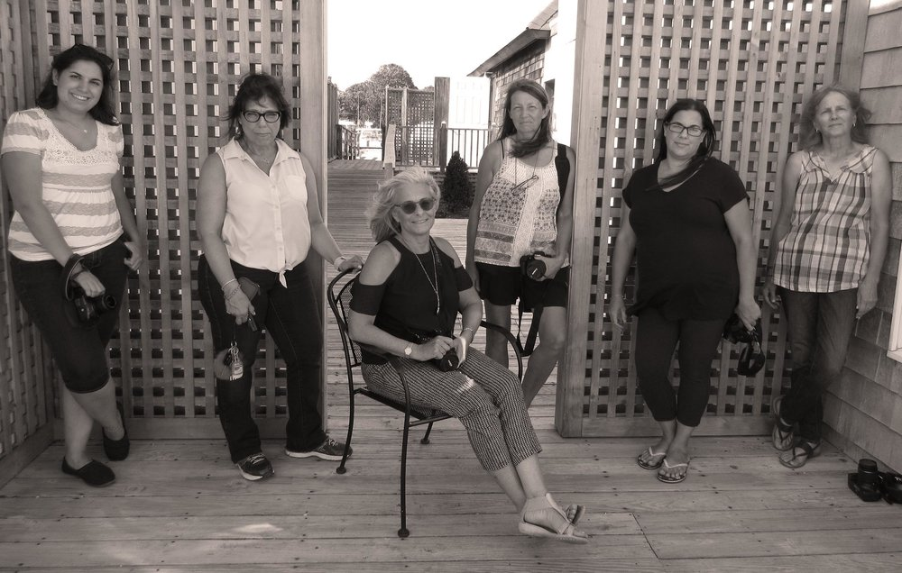 Meryl with her Students—taken on location in East Moriches by student Toni Kaste as part of  Natural Portraits Workshop  conducted at Center Moriches Library, July, 2018