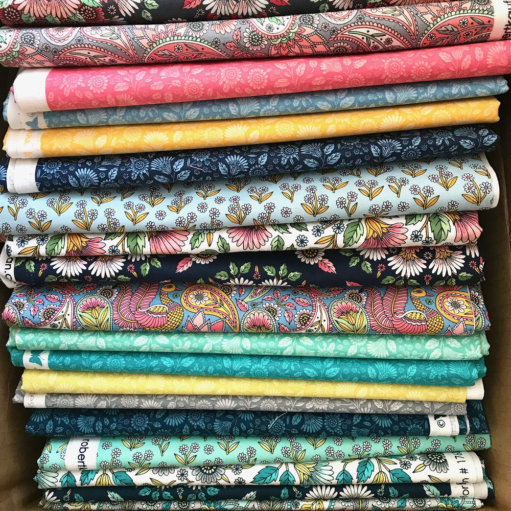 Delphine Fabric Collection by Andie Hanna for Robert Kaufman Fabrics. Image courtesy of the artist.