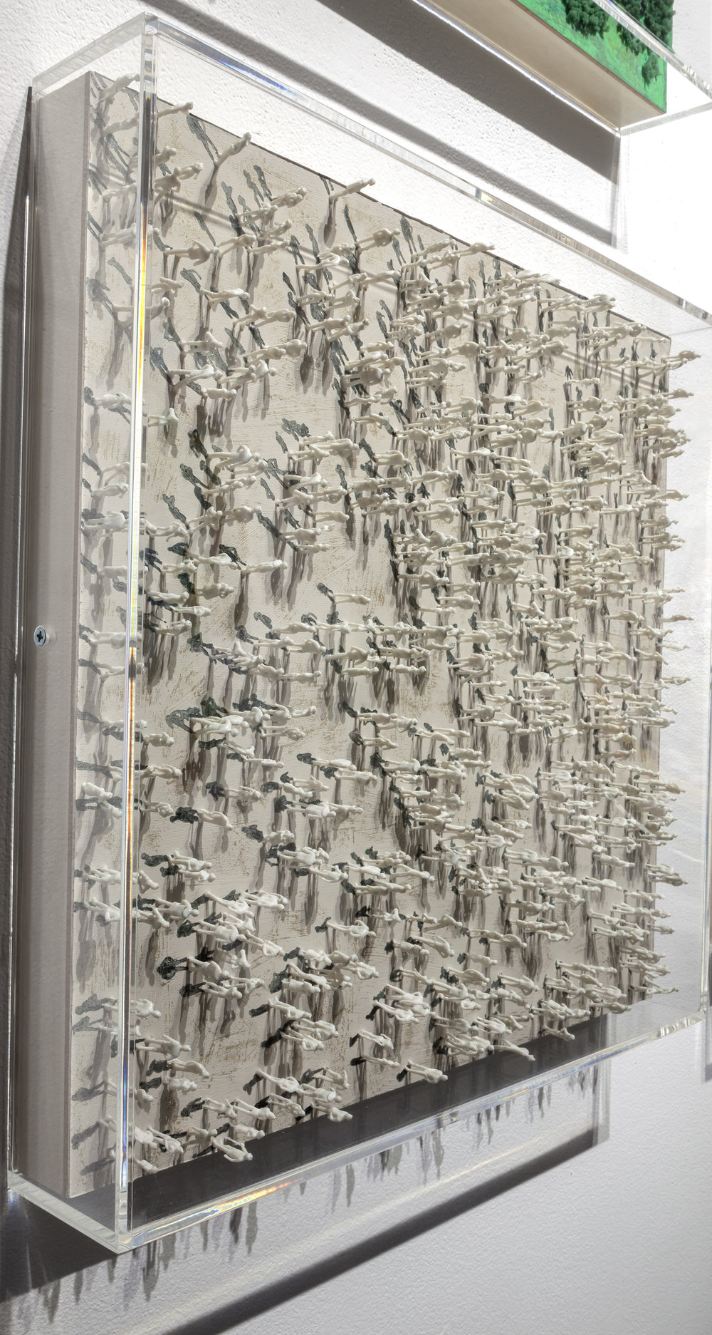 Organized Chaos II, mixed media 18.75 x 18.75 inches, 2016