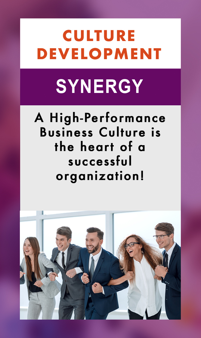 - Developing CultureBuilding and sustaining a High-Performance Business Culture starts with leadership! Culture building requires clear vision, a commitment to values and consistent inter-personal actions from everyone involved in the culture. People respond exceptionally well to consistency. When leaders and managers apply policies, coach, communicate, set expectations, interact and solve problems with consistency and high emotional intelligence, a company or organizational culture will thrive. People can trust consistency and will increase their commitment when treated with dignity and consistent fairness. A High-Performance Business Culture is rooted in consistency, accountability and a focus on results. When people are provided the tools and support they need to perform and are given meaningful feedback to improve, they will invest themselves in their company culture, contributing to a higher level of success for everyone. All Perceptum programs help build and sustain a High-Performance Business Culture by developing people at all levels of an organization to engage each other and customers productively and joyfully. The net result is happier employees at all levels, more satisfied customers and a stronger bottom line!Connect with Perceptum today to discuss your specific needs so we can customize effective development programs for your organization.Phone: 415.596.0337email: info@perceptumgroup.com