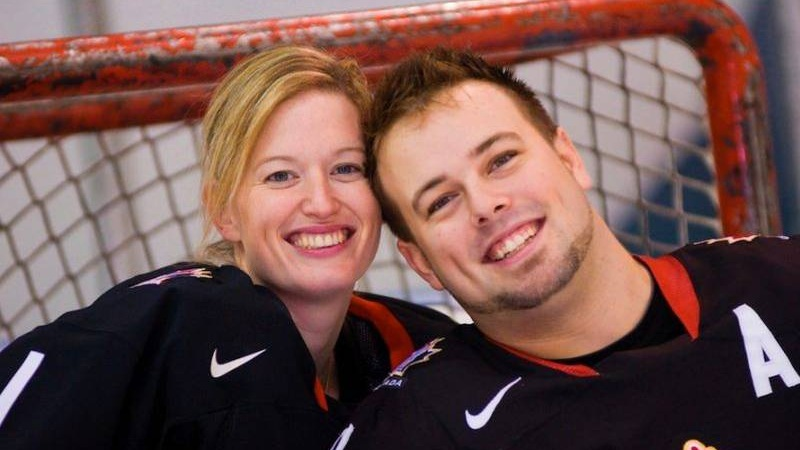Small and husband Billy Bridges, Paralympic Hockey Player.