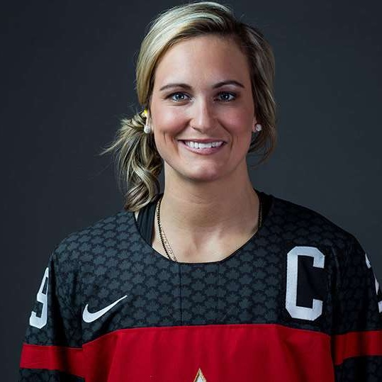 - Marie-Philip Poulin plays as a forward for Les Canadiennes de Montreal