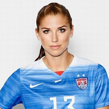 - Alex Morgan plays as a forward for the US Women's National Team