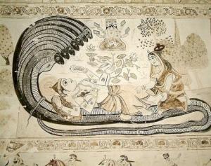 Adi Shesha. Ananta, the endless one