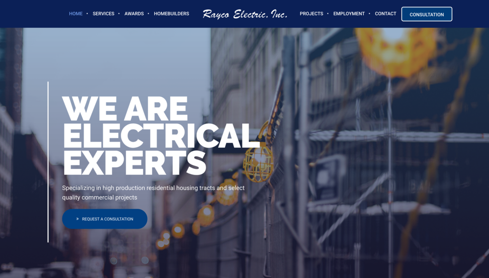 Rayco Electric - Web Design - Web Development