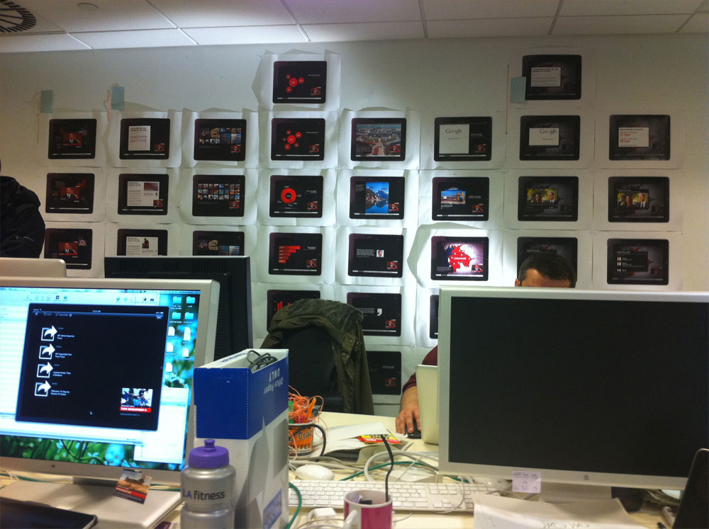 Final designs on the walls