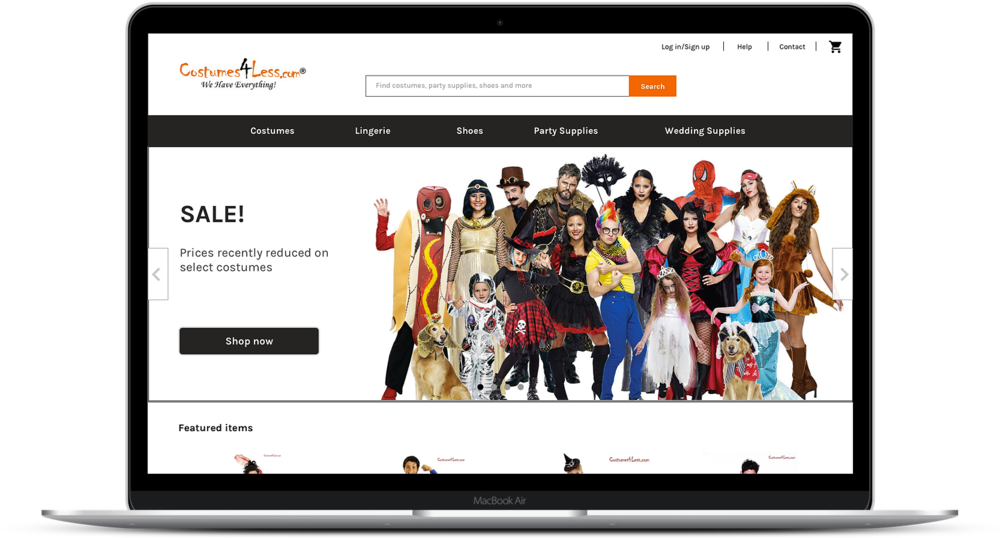 E-commerce research - Costumes 4 Less